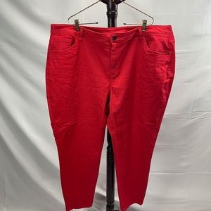 Lane Bryant Stretchy Red Jeans Size 28